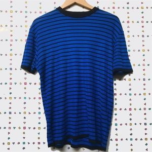 • ✔️Versace Classic V2 Blue Stripped Knit Top 🏧•